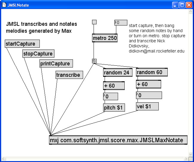 Instructions for using JMSL in Max